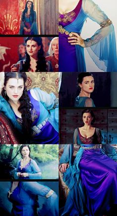 """Morgana's Violet\Turquoise Dress. I think this one is my favorite. --Merlin"" }}} So gorgeous. --Frodo the Second"