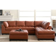 Valenza Chaise Sectional-Marsala