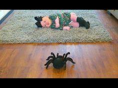 Giant Spider Attack Baby Girl - Kids Freaky Toy Movie Giant Spider, Toy, Movie, Youtube, Kids, Children, Boys, Giant Huntsman Spider, Film