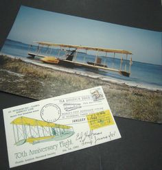Own these pieces of #aviation history!  Benoist No.43 70th Anniversary Flight Photo 1.1.'84 Postal Cachet Flown Signed