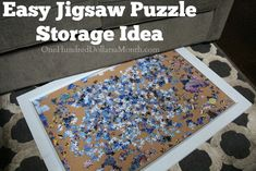 If you are a puzzle lover, you know one of the biggest problems with completing a large jigsaw puzzle is that its, well, large. It takes up a ton of space in your house. I've seen many families give up their dining room table to a puzzle for months because...
