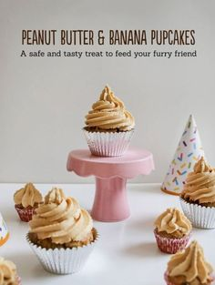 Luxurious Cakes & Treats For Your Dog's Birthday Yummy Treats, Delicious Desserts, Puppy Birthday Parties, Happy Birthday, Banana Frosting, Sweet Potato And Apple, Dog Cakes, Food Test, Peanut Butter Banana