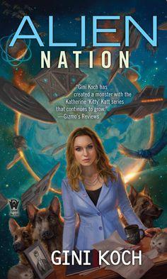 "Alien Nation, Book 14 in the Alien/Katherine ""Kitty"" Katt series, cover art by Lindsey Look, released December 6, 2016"