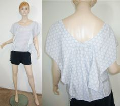 MOULINETTE SOEURS Anthropologie Silk Honeycomb Geometric Batwing Cap Slv Top 6...http://stores.shop.ebay.com/vintagefluxed