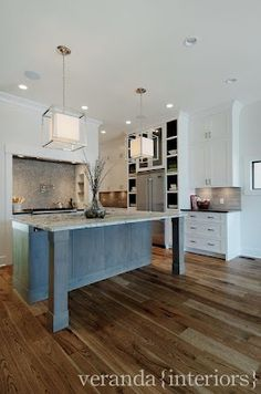 Open ktichen with hidden pantry - traditional - kitchen - calgary - Veranda Estate Homes & Interiors Small House Interior Design, House Design, Veranda Interiors, Used Kitchen Cabinets, Kitchen Island, Kitchen Dinning, Dining Rooms, Home Inc, Home Upgrades