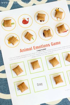 Adorable way to learn adjectives that describe feelings-animal emotions games