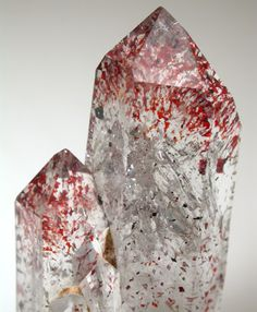 Hematite inclusions in Quartz from Brandberg Mountains, 160 km west of Omaruru, Namibia