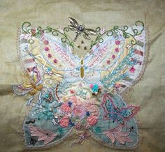 butterfly crazy quilt