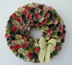 my stampin up paper wreath