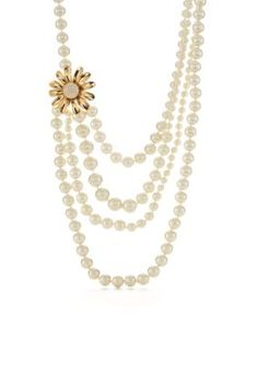 kate spade new york  Gold-Tone Dazzling Daisies Multistrand Necklace