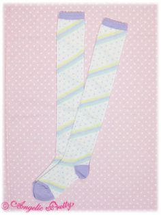 Angelic Pretty / Socks / Marshmallow Border OTK Socks