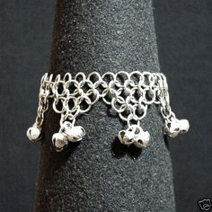 Chainmail Anklet Bells Goth Pagan Wicca Fairy SCA LARP