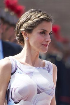 Queen Letizia of Spain attends the delivery of Royal offices of employment at the Military Academy on July 14, 2016 in Zaragoza, Spain.