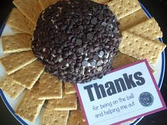 Utah County Mom: Chocolate Chip Cheeseball Gift - Free Printable and Recipe