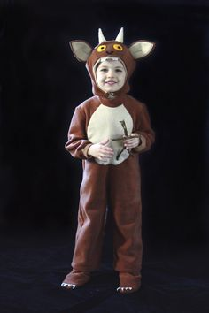 Gruffalos child costume Gruffalo Costume, Gruffalo Party, Halloween 2, Diy Halloween Costumes, Costume Ideas, World Book Day Costumes, Book Week Costume, Sewing For Kids, Diy For Kids