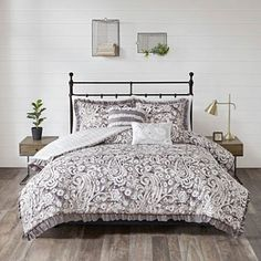 Jla Home 510 Design Molly Full/Queen 3 Piece Reversible Coverlet Set Bedding Shabby Chic Bedding Sets, Unique Bedding, Boho Bedding, Ruffle Bedding, Black Bedding, Modern Bedding, Clean Bed, Grey Comforter Sets, Decor Pillows