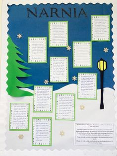 Narnia classroom display Teaching Displays, Class Displays, School Displays, Classroom Displays, 5th Grade Classroom, New Classroom, Classroom Themes, Display Boards, Display Ideas