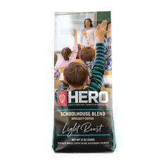HERO Schoolhouse Blend Light Roast Coffee - 12 OZ / WHOLE BEAN