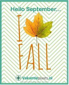 Hello september....een heerlijk seizoen komt er aan.  www.vakantieplaats.nl   Vraag & Aanbod   Gratis adverteren met alles wat gerelateerd is aan vakantie.