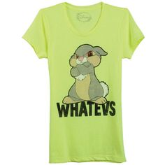 Thumper Whatevs Tee (£9.69) found on Polyvore