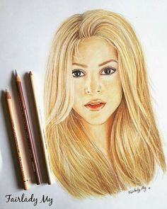 DESSIN Shakira - Fairlady My Art Mix Media, Mixed Media Art, Shakira, Facebook Sign Up, My Arts, Mixed Media