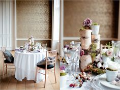 Seasonal tables at Nonsuch Mansion {wedding photography, Surrey} White Orchid and Cakes by Krishanthi