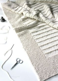 The On the Porch blanket is a very easy knitting pattern. Find this beginner pattern and more knitting inspiration at LoveKnitting.Com.