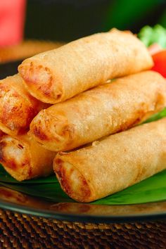 Chicken Avocado Egg Rolls - A delicious twist on a classic Chinese food recipe.