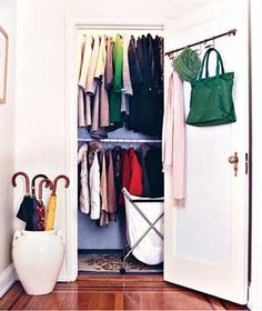 A coat closet that doesn't terrify me. |31 Ways to Make Over Your Closets|@Real Simple