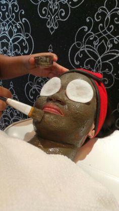 Face mask after facial