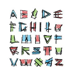 "Credit: Sarah Hyndman Deckchair AlphabetDesigner: Sarah Hyndman, London'Who looks at a deck chair and thinks, ""Hey, that looks like a letter?"" Fun. I wonder if they tried doing this on the Titanic'"
