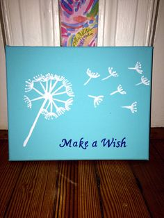 Make a Wish Canvas Painting by ArtisteRio on Etsy