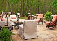 Set the space up right--use portable Pool House lanterns to move light where you need it!