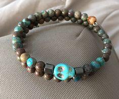 A personal favorite from my Etsy shop https://www.etsy.com/listing/489360461/skull-bracelet-for-men-or-women-two-wrap