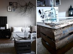 Repurposed window & coffee table