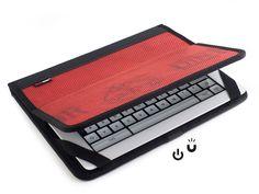 """iPad Hülle """"Rick"""" aus Feuerwehrschlauch, rot"""