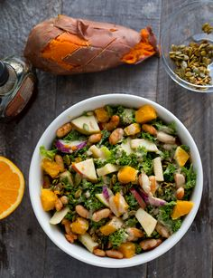 Raw Kale Salad: Fall