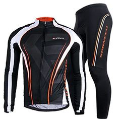 Bicycle Jersey Long Sleeve,Men's Cycling Apparel Polyester Lycra Bike Pants Padded Asian XXL/ US XL Multi >>> Check out the image by visiting the link.
