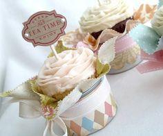 Decoración de Cupcakes románticos