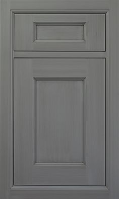 Alexandria Recessed door style by #WoodMode, shown in Designer Opaque Vintage Shadow Gray finish on maple.