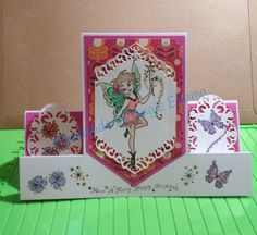 Stepper card using Spellbinders A2 Card Creator die Devine Eloquence made at a workshop
