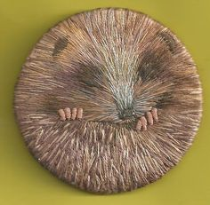 Little hedgehog - needle painting