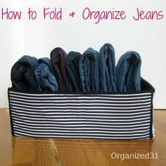 At last -- jeans are neat, tidy and easy to find!