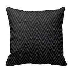 Chevron Jacquard Burlap   black on black Throw Pillow Black Throw Pillows, Designer Throw Pillows, Custom Pillows, Chevron, Burlap, Fabric, Color, Tejido, Tela