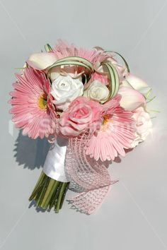 Shop Stunning Real Touch Pink & White Gerbera and Rose Bridal Bouquet online from Silk Blooms at just £ It is an online artificial wedding flowers store in UK. Gerbera Bouquet, Rose Bridal Bouquet, Wedding Bouquets, Our Wedding, Dream Wedding, Wedding Ideas, Daisy Wedding Flowers, Daffodils, Pink White