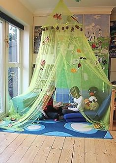 Home and More Store Childrenu0027s Cosy Canopy Green & See that leaf canopy?? I want that in my classroom library! | ikea ...
