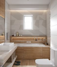 A good lighting plan is a series of layers — placing ample light where it is needed for showers, shaving, or putting on makeup, for instance, while other light sources enhance the overall mood of the room. Washroom Design, Bathroom Design Luxury, Bathroom Design Small, Rustic Bathroom Shower, Wooden Bathroom, Casa Loft, Bathroom Vanity Makeover, Bathroom Renovations, Apartment Design