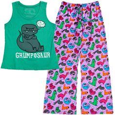 Need this outfit. Nathan is always calling me this. Grumposaur Lounge Set - Pajamas - Women