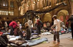 Dino Snores sleepover at the Natural History Museum, London London Attractions For Kids, London Activities, Natural History Museum London, Sleepover Activities, Interactive Exhibition, History Of England, Night At The Museum, Sharing Economy, Fotografia
