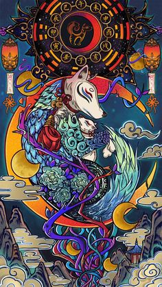 Japanese Pop Art, Japanese Artwork, Japanese Tattoo Art, Cool Anime Wallpapers, Animes Wallpapers, Aesthetic Art, Aesthetic Anime, Samurai Wallpaper, Samurai Artwork